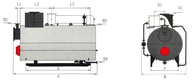 冷凝无压间接加热热水锅炉-江苏金鼎锅炉(图2)